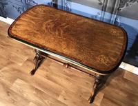 Victorian Burr Walnut & Amboyna Centre Table (9 of 14)