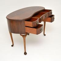 Antique Queen Anne Style Mahogany Kidney Desk / Dressing Table (7 of 11)
