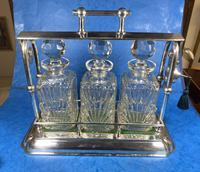Edwardian Silver Plated Tantalus c.1905 (7 of 14)