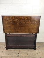 Antique Carved Oak Monks Bench Hall Seat (10 of 10)