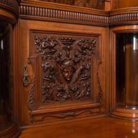 Large Fine Antique Wardrobe Compactum, English, Walnut, Gillow & Co, Victorian (9 of 12)