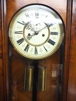 Superb Antique German Twin Walnut 8-Day Mantel Clock Vienna Striking Wall Clock (9 of 10)