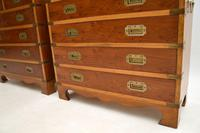 Pair of Yew Wood Military Campaign Style Chests (7 of 14)