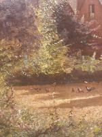 Arrival of the Geese - Oil on Canvas Signed & Dated Edwad Rawstorne 1858 (5 of 7)