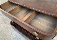 Regency Mahogany Bow Fronted Column Chest of Drawers (15 of 21)