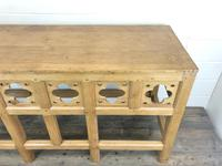 Victorian Pine Church Altar Table in Gothic Design (10 of 14)