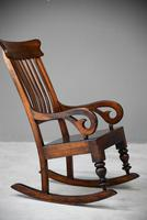 Antique Victorian Mahogany Rocking Chair (3 of 12)
