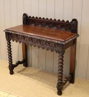 Carved Dark Oak Hall Table (7 of 9)