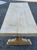 Huge French Bleached Oak Farmhouse Dining Table (8 of 34)