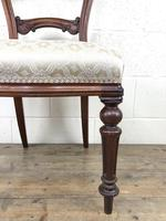 Single Victorian Mahogany Chair with Fabric Seat (3 of 10)