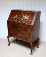 Walnut Chinoiserie Bureau (6 of 10)
