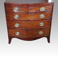 Edwardian Bow Fronted Small Chest (5 of 9)