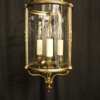 French Gilded Triple Light Antique Lantern (10 of 10)