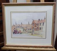 Watercolour Country Village Exhibited Artist Tony Hunter (3 of 10)