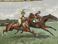 Sporting Wall Tapestry Scottish Horse Trainers Racing Glenrothes Scotland Signed (4 of 27)