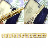 Stunning Vintage Diamond Double Row Bar Brooch 2.5 Carat ~ With Independent Appraisal / Valuation (9 of 11)
