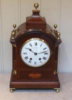 Mahogany & Inlay Bracket Clock (3 of 11)