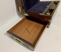 Superb Antique Victorian Rosewood Brass Bound Writing Slope Box (4 of 15)