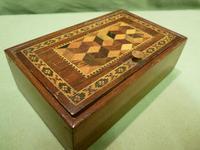 Genuine Tunbridge Ware Box. 100% Original. c1875 (3 of 9)