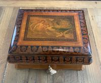 William IV Birch Penwork Jewellery Box (3 of 16)