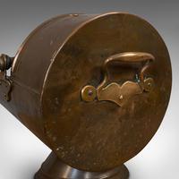 Antique Coal Scuttle, English, Copper, Brass, Fireside Bin, Victorian c.1900 (9 of 9)