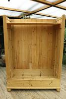 Fabulous Old Pine Knock Down 'arts & Crafts' Double Wardrobe  - We Deliver & Assemble! (14 of 16)