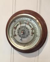 Edwardian Oak Aneroid Barometer c.1901 (4 of 8)