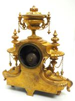 Wow! Incredible French Gilt Metal Mantel Clock Striking 8-Day Mantle Clock (10 of 10)