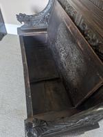 Victorian Carved Oak Settle (3 of 6)