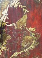 Impressive Pair of Chinese Chinoiserie Lacquered Panels (8 of 10)