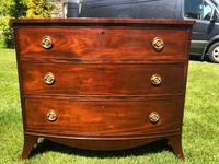 George III Small Mahogany Bow Front Chest of Drawers (5 of 11)
