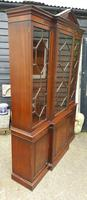 Reprodux Bevan Funnell Mahogany Breakfront Library Bookcase (2 of 5)
