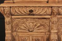 Carved Raw Oak Glazed Bookcase (19 of 21)