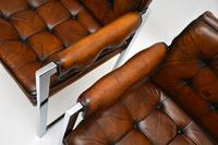 Pair of Vintage Leather & Chrome Armchairs (7 of 15)