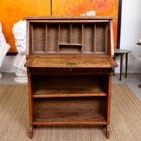 Oak Bureau Arts & Crafts Writing Desk Chest Edwardian Slim (2 of 12)