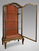 19th Century Continental Walnut Display Cabinet (6 of 6)