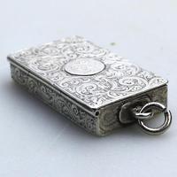 A Superb & Rare Victorian Novelty Solid Silver Vesta Box Lawrence Emanuel C.1888 (3 of 7)