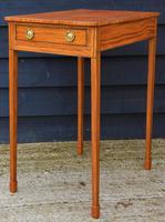 Superb Quality Georgian Satinwood & Inlaid Lamp / Wine / Side Table c.1800 (6 of 10)