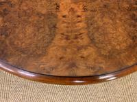 Round Burr Walnut Queen Anne Style Coffee Table (4 of 6)