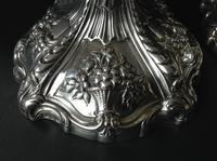 Pair Tall Antique Georgian Silver Candlesticks - 1769 (5 of 10)