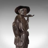 Tall Antique Decorative Figure, Chinese, Bronze, Statue, Water Carrier, C.1900 (12 of 12)
