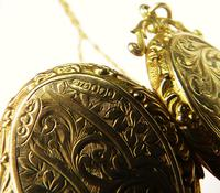 Antique Hallmarked Gold Locket With Necklace (3 of 8)