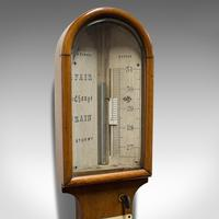 Antique Stick Barometer, Walnut, Scientific Instrument, Negretti & Zambra, 1900 (3 of 11)