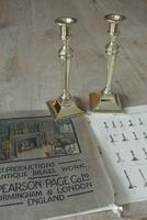 Pair of Quality 18th Century Style Brass Candlestick Pearson Page c.1910 (6 of 7)