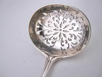 Victorian Silver Lily Pattern Strainer Spoon London 1867 (2 of 6)