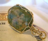 Vintage Pocket Watch Chain Fob 1970s 12ct Gold Plated & Irish Connemara Marble Fob (5 of 10)