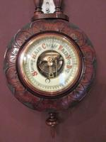 Small Antique Walnut Banjo Barometer (6 of 8)