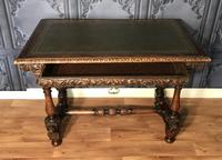 Victorian Carved Oak Library Table (21 of 25)