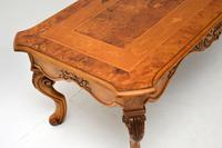 French Style Burr Walnut Inlaid Marquetry Coffee Table (3 of 10)
