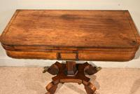 Regency Brass Inlaid Rosewood Card Table (6 of 6)